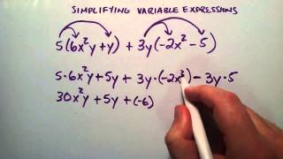 Simplifying Variable Expressions , Example 2 , Intermediate Algebra , Lesson 25