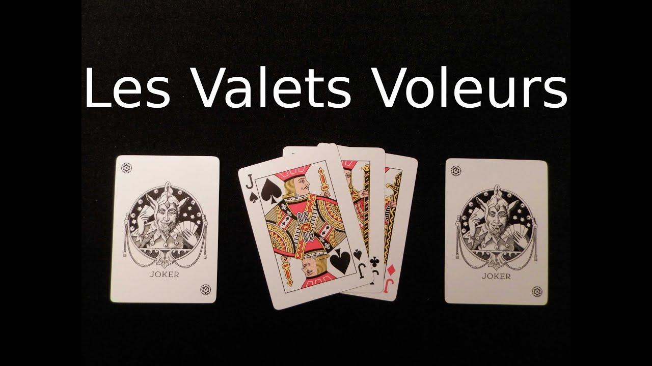 tour de magie carte 4 valets