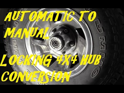 automatic to manual locking hub conversion youtube rh youtube com Manual Transmission to Automatic Transmission Manual to Automatic N Clip Art