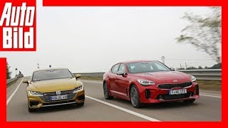 VW Arteon vs Kia Stinger (Goldenes Lenkrad 2017) Test/Review/Details