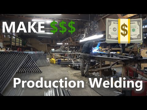 Buried In Work. Production Welding To EARN A Profit