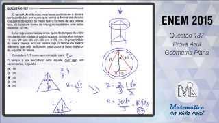 Enem 2015 - Questão 137 - Prova Azul - Geometria Plana