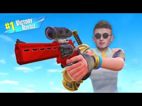 Getting VICTORY ROYALE\'S ON FORTNITE (*NEW* SCOPED REVOLVER)