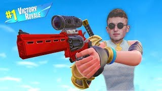 Getting VICTORY ROYALE'S ON FORTNITE (*NEW* SCOPED REVOLVER)