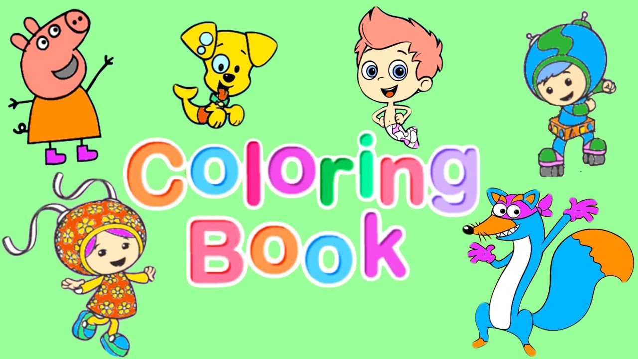 Nick Jr Coloring Book Pt 2