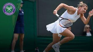 Simona Halep vs Saisai Zhang 2R Highlights | Wimbledon 2018