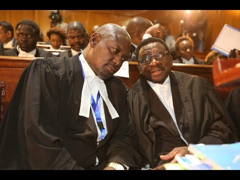 Lawyer James Orengo makes submissions at the Supreme Court