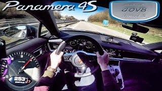 Porsche Panamera 2017 4S Diesel 420 HP POV AUTOBAHN Acceleration by AutoTopNL