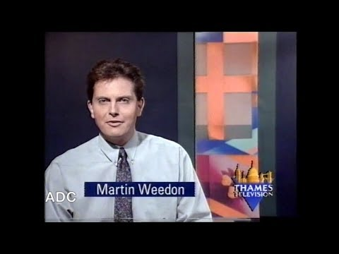 Thames night time announcer Martin Weadon in-vision from 27th December 1990