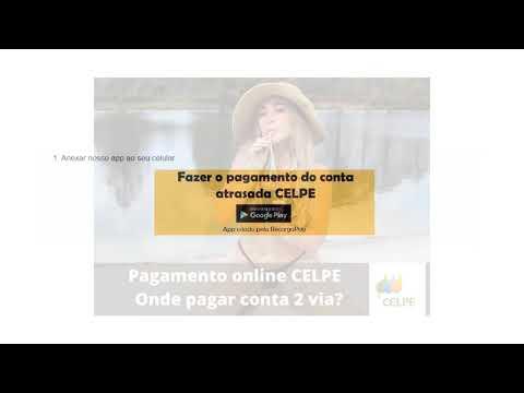 Pagamento online CELPE - Onde pagar conta 2 via?