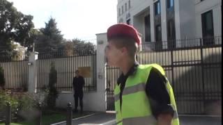Protest la poarta lui Rogozin. Stop TERROrussia!
