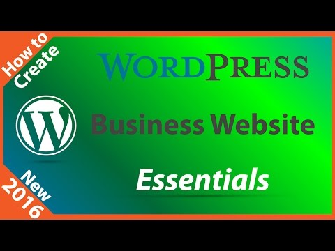 How to Create a WordPress Site for Your Business - 동영상