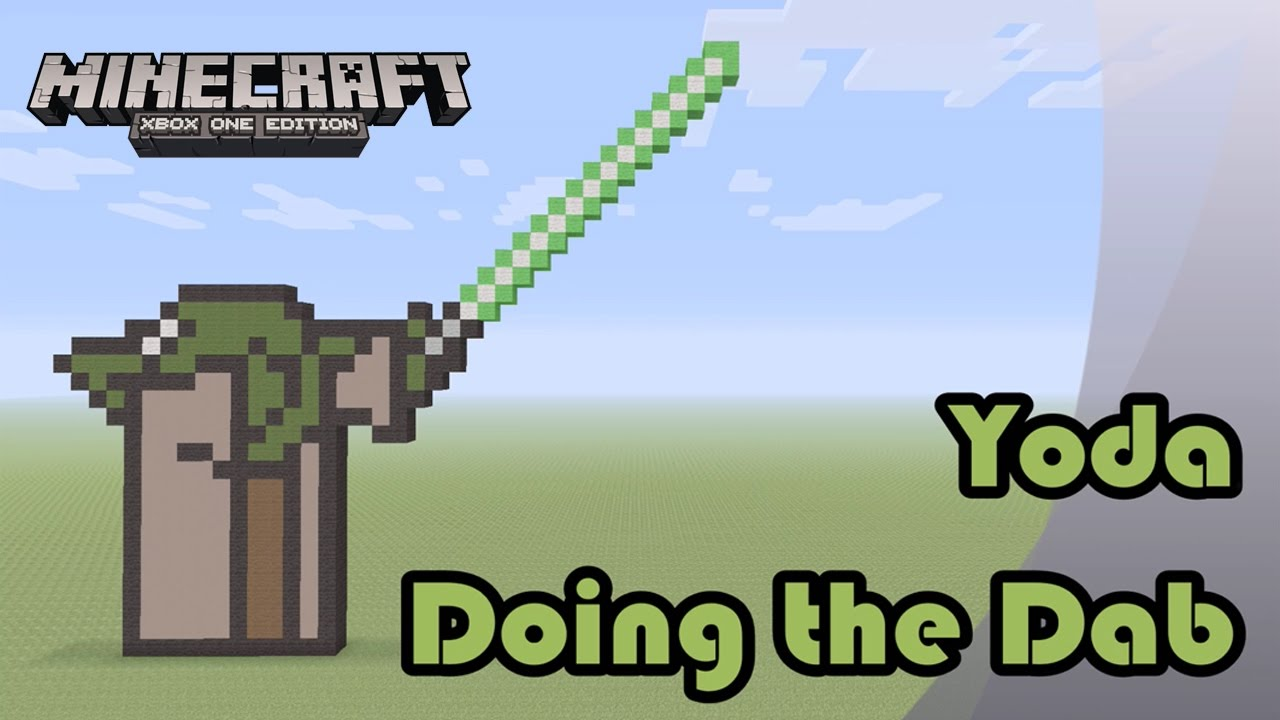 Minecraft Pixel Art Tutorial And Showcase Yoda Doing The Dab Star Wars