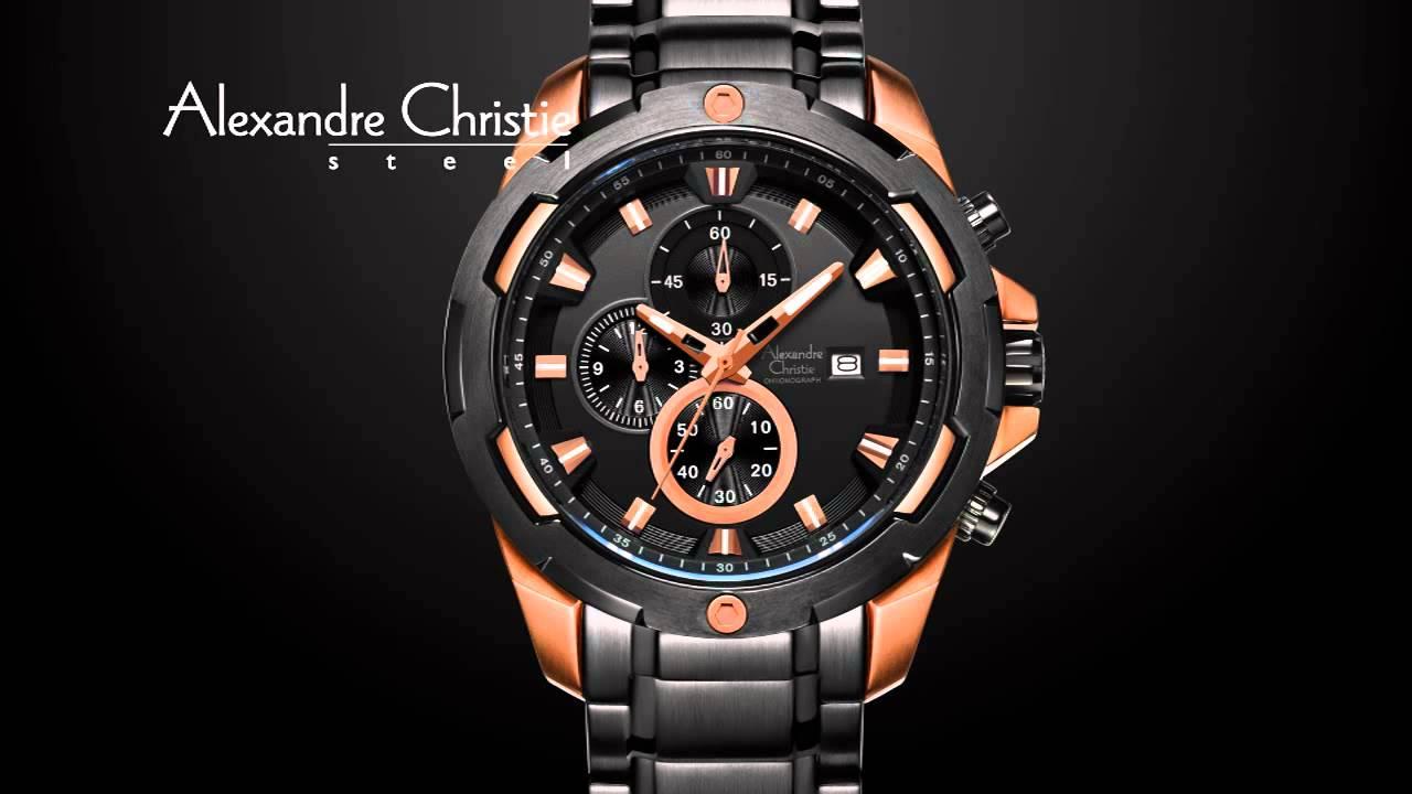 Alexandre Christie Ac 9205 Mc Jam Tangan Pria Stainless Stell Black 6290mc 6305 Bfmc