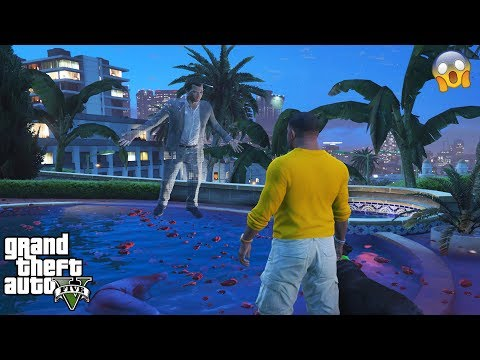 GTA 5 - DON'T Jump In MICHAEL'S HAUNTED Pool At 3AM (scary Secret)
