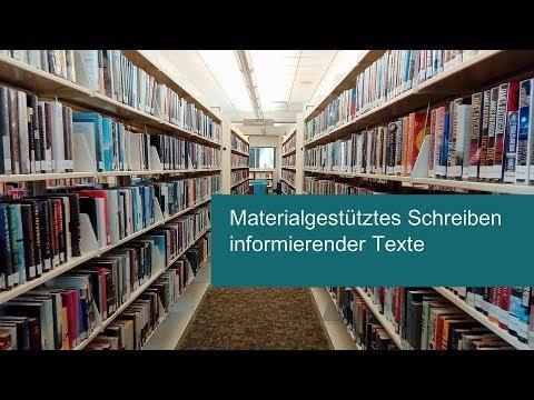 Materialgestütztes Schreiben informierender Texte