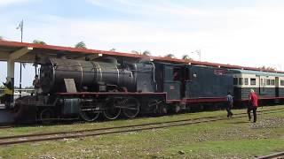 サバ鉄道蒸気機関車6-015バルカンファンドリ運転台添乗
