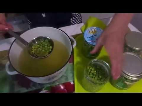 Заготовка консервированного зеленого горошка без стерилизации за 6 минут .