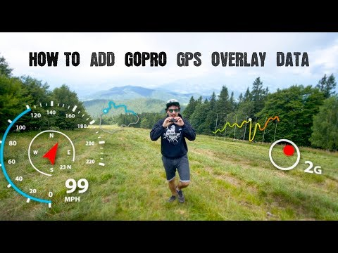 How To Add GoPro GPS Data Overlay I GoPro Hero 7 Black