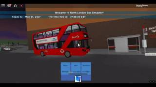 Roblox North London bus Simulator Enviro 400H City First London Piccadilly Line Rail Replacement :D