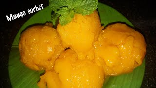 3Ingredients Mango sorbet recipe/Summer special frozen dessert | How to make mango sorbet |