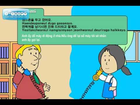 Học Tiếng Hàn-Trên điện thoại   bài 28