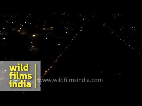 IGI Airport and aerial view of Delhi city