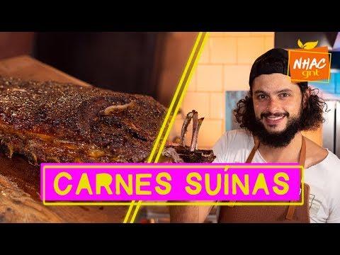 Costela de porco e copa-lombo: Mohamad ensina como temperar e fazer carnes suínas  Mohamad no Nhac