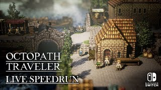 All Chapter Four Stories Speedrun | Octopath Traveler | Live First Run