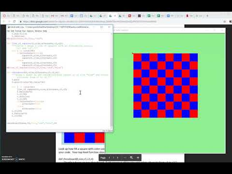 How To Draw Chessboard Using Python Turtle Module