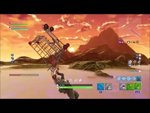 Fortnite - Crazy Flying Shopping Cart Glitch (FLY SUPER FAST OUT OF on