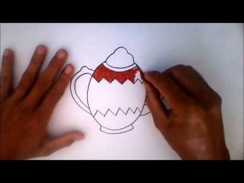 Menggambar Dan Mewarnai Teko Menggunakan Krayon Youtube