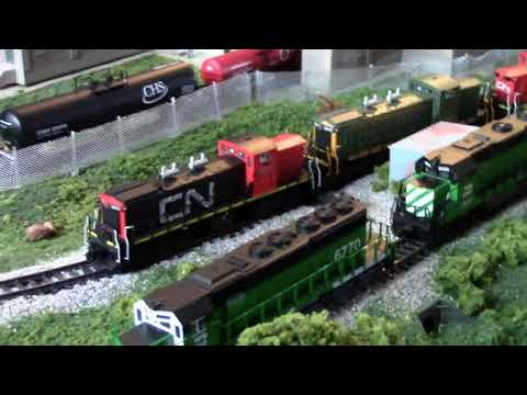 MY PRESENT N SCALE LAYOUT FEATURING THE CN GMD-1