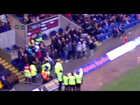 Wolves fan get kickin from Wigan fans 2012 - YouTube