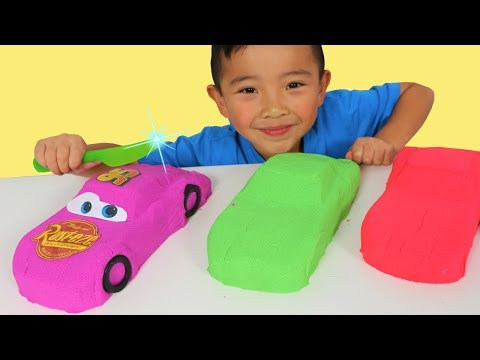 Thumbnail: DIY Kinetic Sand Disney Cars 3 Toys And Cutting Lightning McQueen Up With Ckn Toys