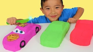 Download DIY Kinetic Sand Disney Cars 3 Toys And Cutting Lightning McQueen Up With Ckn Toys Mp3 and Videos