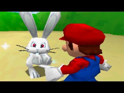 Super Mario 64 DS 100% Walkthrough Part 15 - Catching Rabbits & Opening the White Door