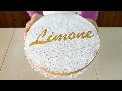 TORTA SOFFICE AL LIMONE Ricetta Facile Senza Latte e Senza Burro - Lemon Sponge Cake Easy Recipe