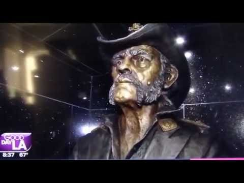 Lemmy Kilmister Statue Unveiled at Los Angeles' Rainbow Bar & Grill  8/24/2016