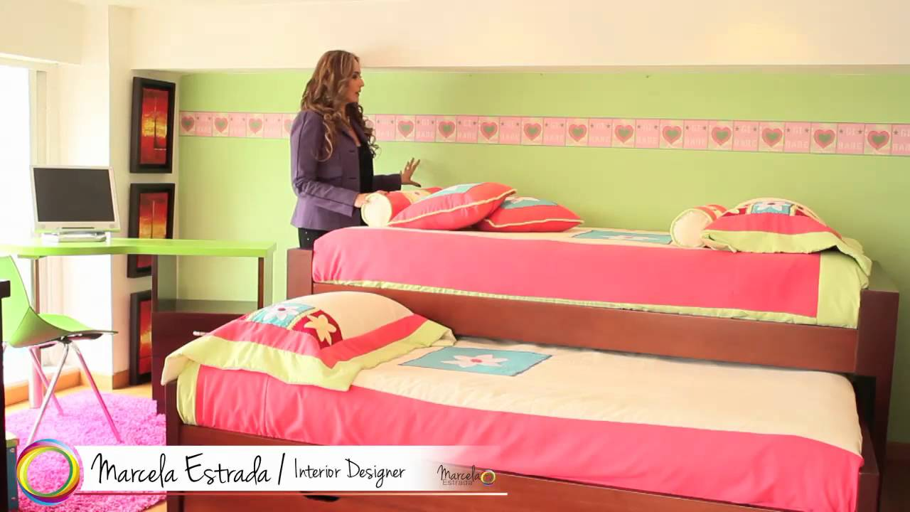 Marcela estrada tv como decorar un cuarto para ni as - Como decorar una habitacion para un bebe ...