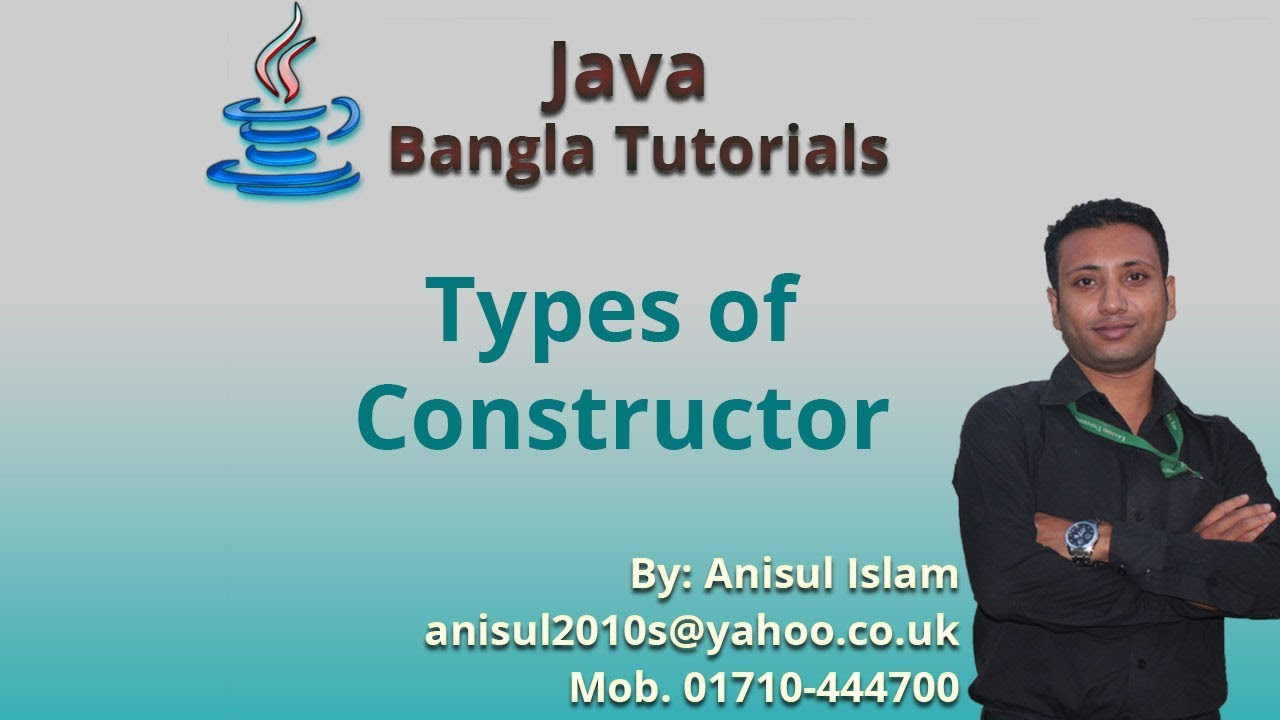 how to create default constructor in java