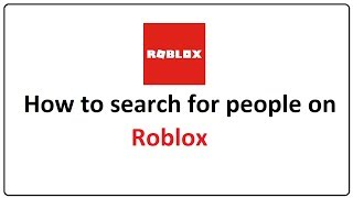 how to search up people on roblox