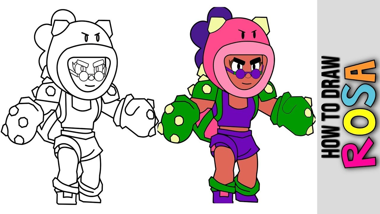 How To Draw Rosa New Brawler From Brawl Stars Brawl Talk New