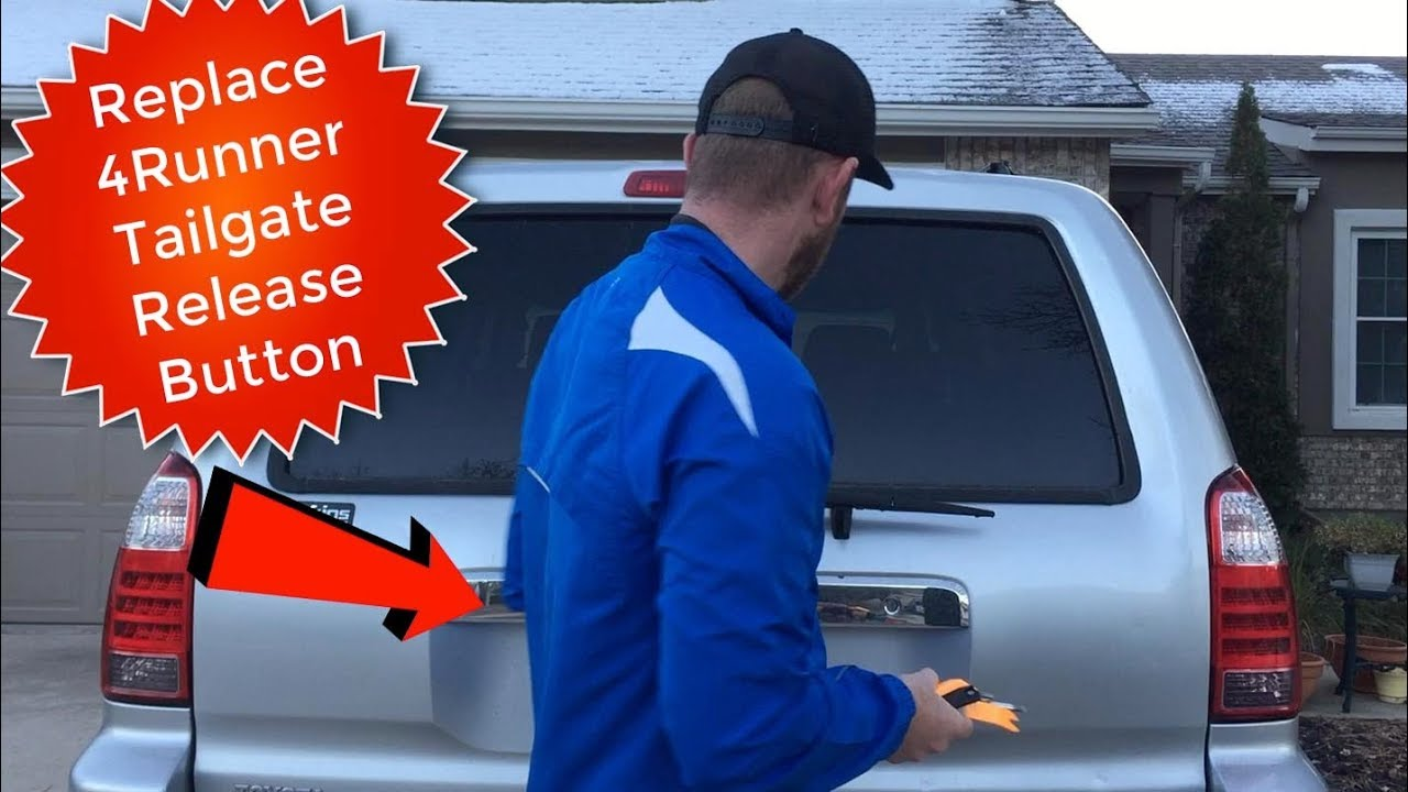 2017 Toyota 4runner >> How to Replace Rear Door/Tailgate Handle Release Button ...
