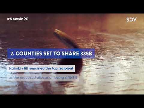 Wetangula forgives Raila, Counties share national cake, No pay increase yet |#NewsIn90