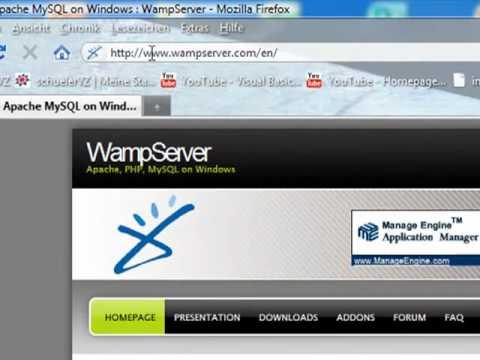 Einen eigenen Server erstellen -- #1 WAMP installieren.