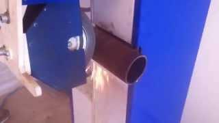 Круглошлифовальный станок ШКП 20-50 М2. Обработка трубы 76(Станок круглошлифовальный ШКП 20-50 М2 предназначен для шлифования и очистки от ржавчины наружных поверхност..., 2014-10-10T09:27:33.000Z)
