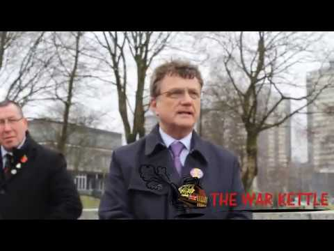 Gerard Batten UKIP Leader at DFLA in Rochdale (Democratic Football Lads Alliance)
