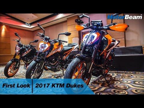 2017 KTM Duke 200, 250, 390 - Walkaround | MotorBeam
