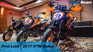 2017 KTM Duke 200, 250, 390 - Walkaround | MotorBeam